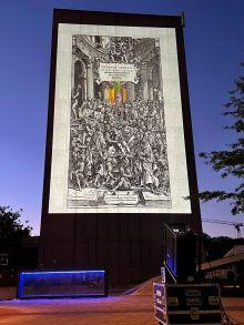 Team Vesalius outdoor projection
